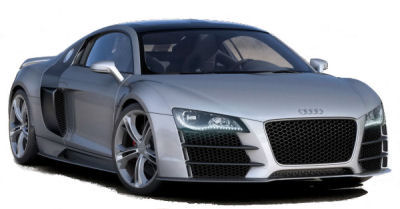 Photo du design extérieur de la supercar AUDI R8 V12 TDI