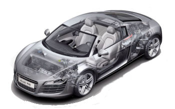 Photo de supercar Audi R8: dessins d'artiste