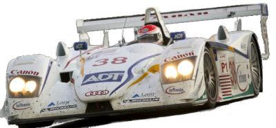 Photo du design extérieur de la supercar AUDI R8 de compétition Le Mans Series