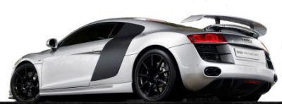 La puissance du bloc V8 de 4,2L a été portée à 460 ch, alors qu'un kit aérodynamique (testé en soufflerie selon PPI) permet d'améliorer les performances de la R8.